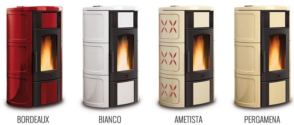 Stufe termostufe iside idro segala ceramiche - Stufe nordica idro ...