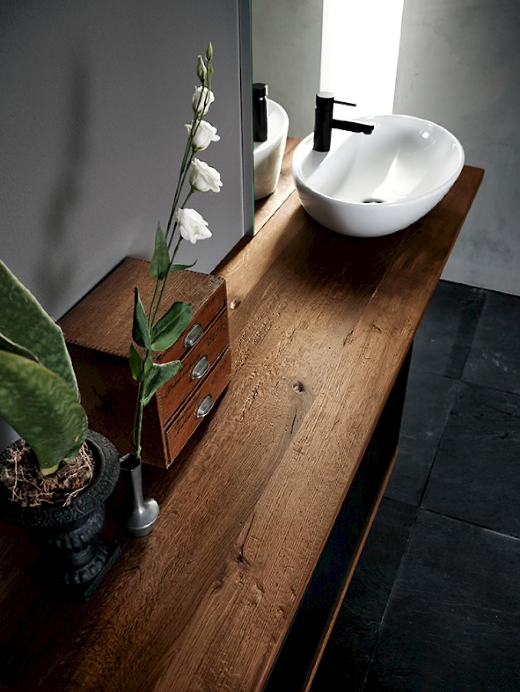 Arredo bagno mobili compab ink 03 segala ceramiche - Top legno massello bagno ...