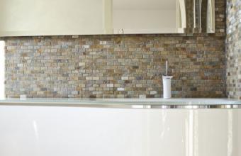 Mosaico pietra naturale su rete quarzite