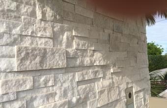 Rivestimento in pietra quarzite Marble bianco